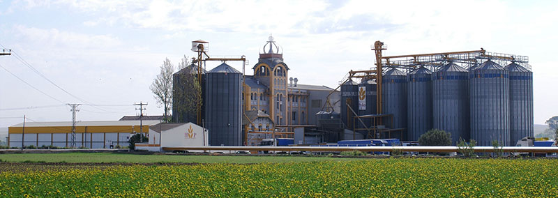 Panorámica fabrica de Harina de Villanueva de Gállego