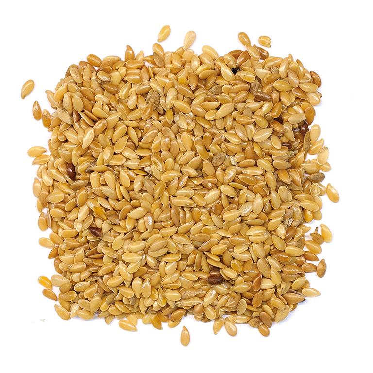 Semillas de linaza dorada