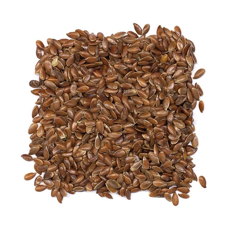 Semillas de linaza marrón